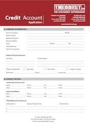 credit account application